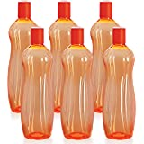 Cello Sipwell PET Bottle Set, 1 Litre, Set of 6, Orange