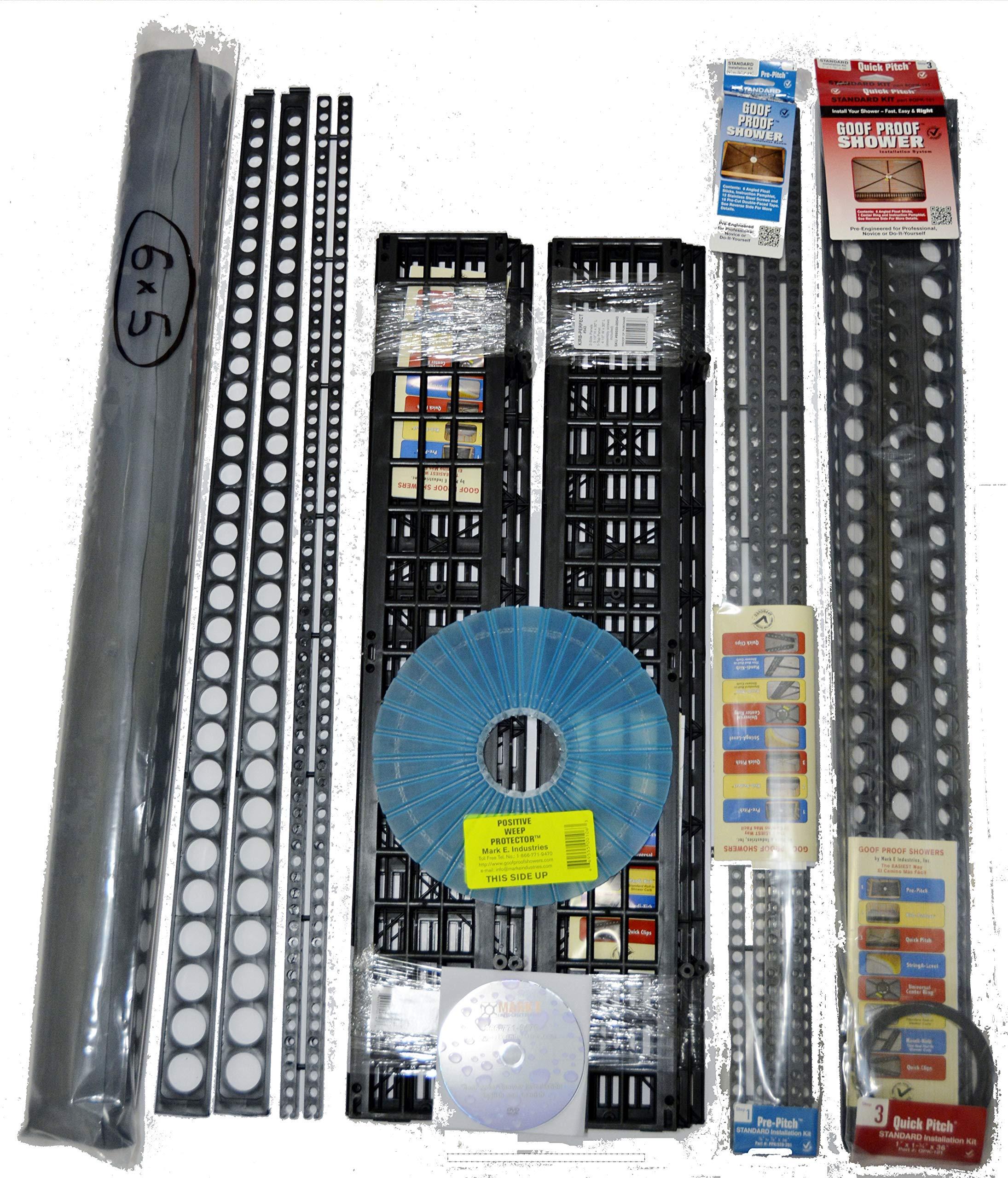 Standard Shower Kit 6 in 1 with 2 - Extra Pre-Pitch Sticks ''STD-201'' + 2 Quick-Pitch Extra Float Sticks XFS-101.2 Sticks …