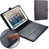 Funda-teclado Sony Xperia Tablet Z, COOPER TOUCHPAD EXECUTIVE Funda 2 en 1, cuero teclado, ratón inalámbrico Bluetooth, soporte LTE Wi-Fi SGP321 SGP311 SGP312 (Negro)
