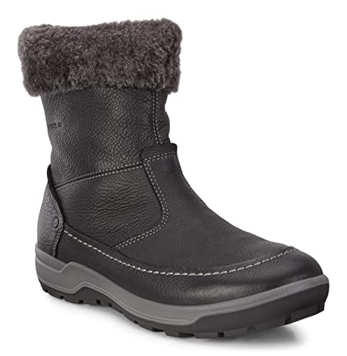 Details about Ecco Womens Snow Boots Trace Tie Dark Shadow