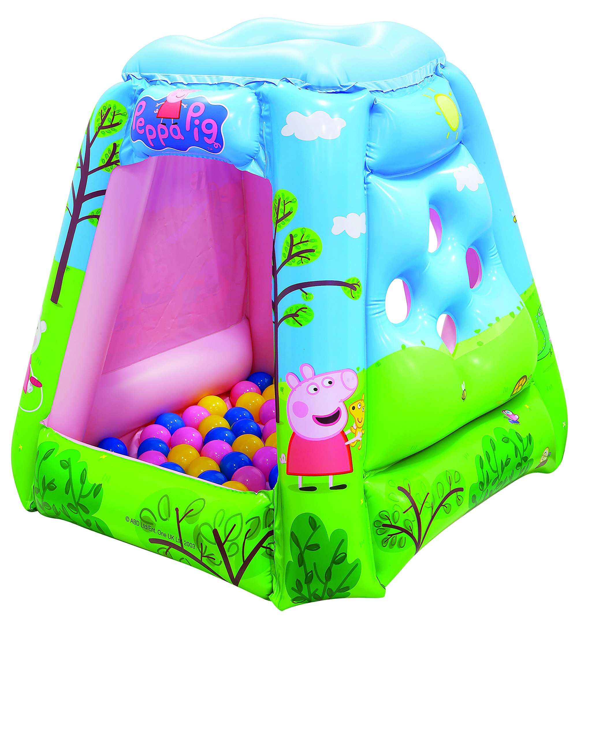 Peppa Pig Ball Pit, 1 Inflatable & 20 Sof-Flex Balls, Blue/Green, 37''W x 37''D x 34''H by Peppa Pig (Image #2)