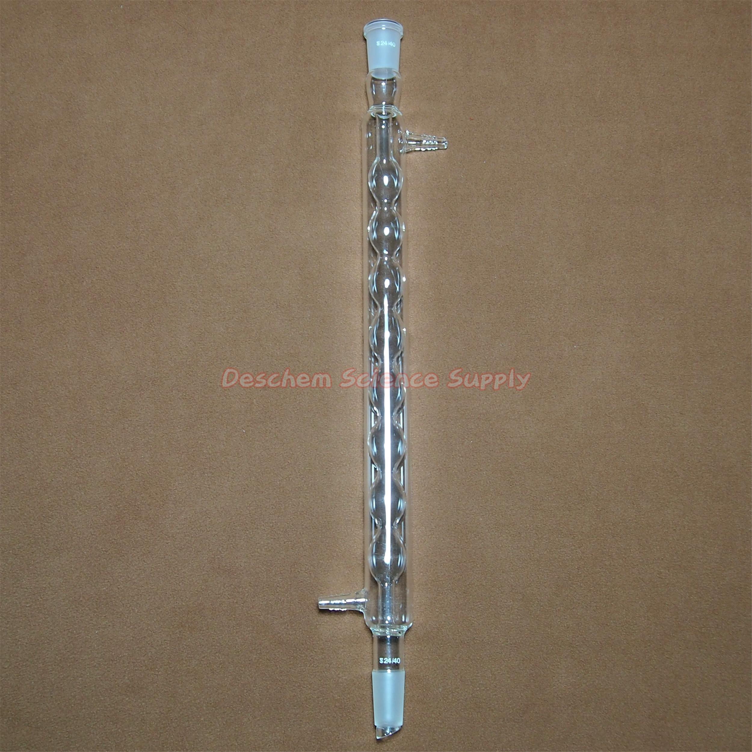 Deschem 400mm,24/40,Allihn Condenser,Ball Type Condensar,Chemistry Glassware