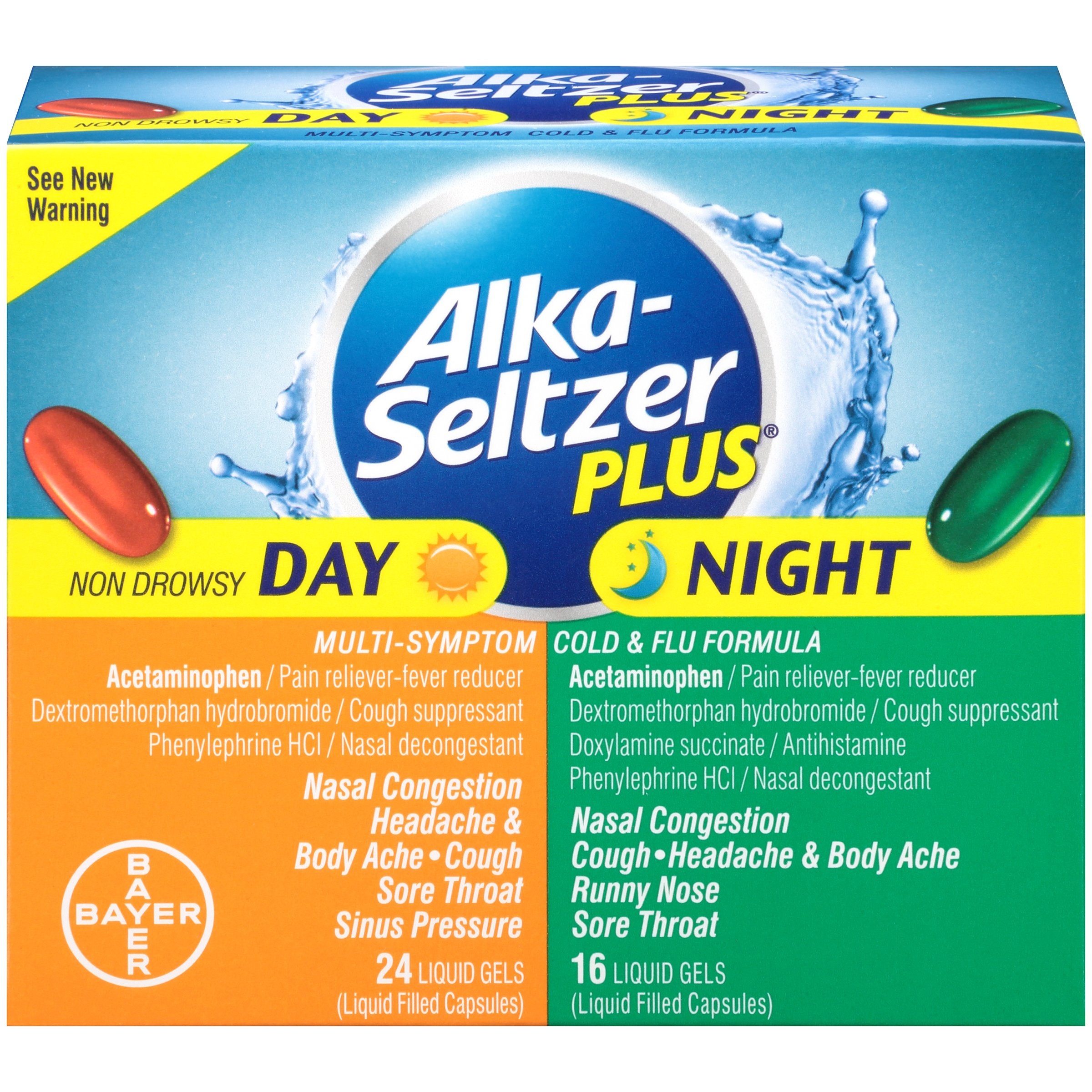 Alka-Seltzer Plus Day/Night Cold and Flu Liquid Gels, 40 Count by Alka-Seltzer