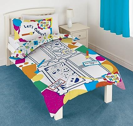 Mister Maker color and Play Panel juego de funda de edredón y almohada Lavable a 6