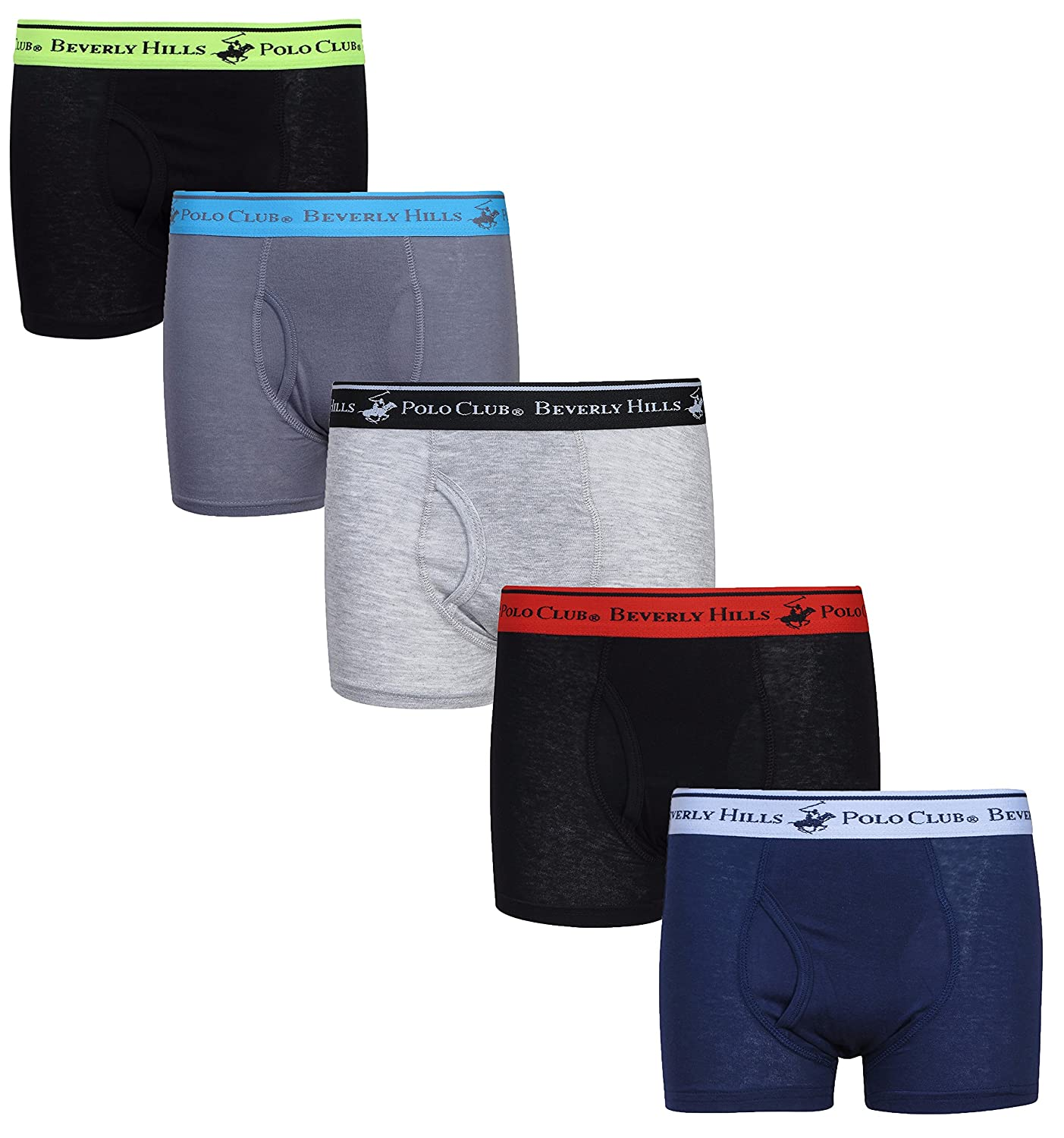 Beverly Hills Polo Club Boys' Boxer Briefs (Pack of 5)