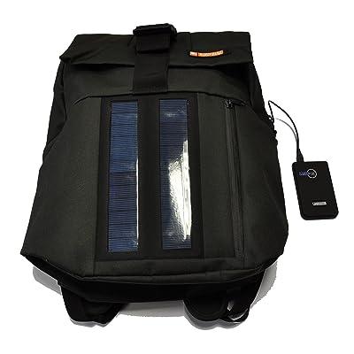 E-Mission Solar 2W Sac à dos avec panneau solaire et batterie externe rechargeable de 2200mAh