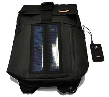 E-Mission Solar 2 W Mochila con Panel Solar y Cargador de batería Externo, 2200 mAh: Amazon.es: Deportes y aire libre