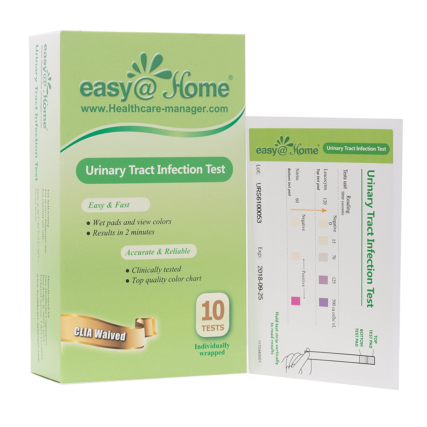 Amazon.com: Easy@Home(UTI-20P) Urinary Tract Infection Test Strips (UTI Test Strips),20 Tests- 10 Individually Packed Tests/Box- FDA Cleared for OTC USE, ...