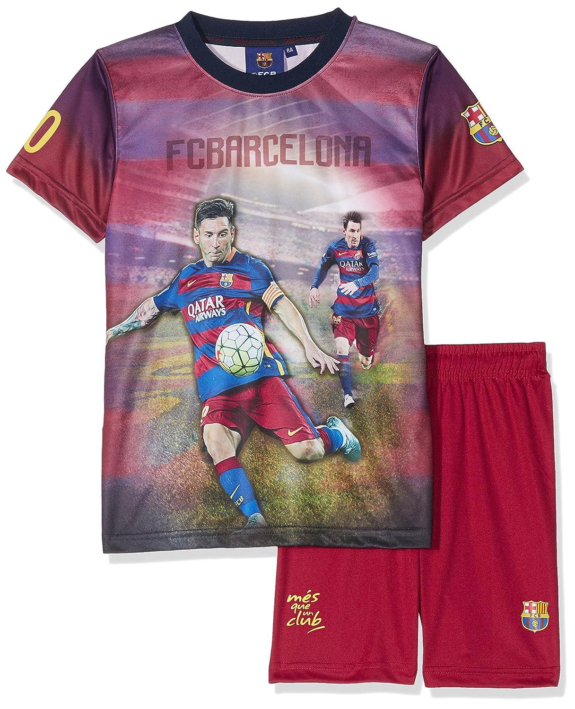 Fc Barcelona Conjunto oficial de camiseta y pantalones cortos (talla para  niño) 5e331133ad1