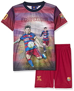 promo code 647e2 ad276 Official FC Barcelona Collection Boys' Shorts + Shirt Set - Lionel Messi