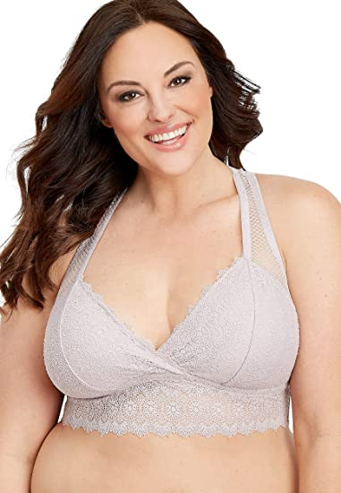 b987577b5 maurices Women s Plus Size Knit Lace and Mesh Racerback Bralette at Amazon  Women s Clothing store