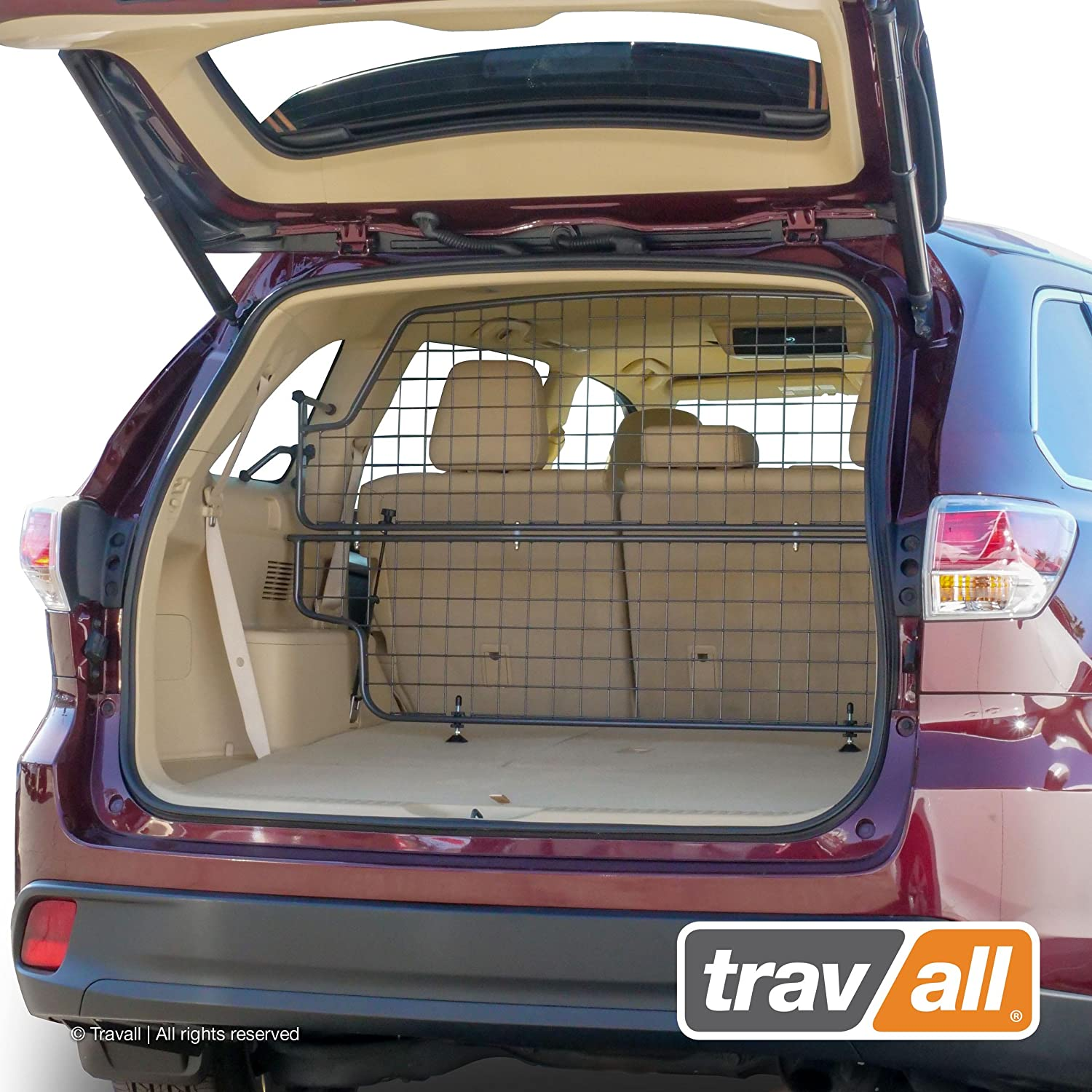 Travall Guard Compatible with Toyota Highlander 2013-Current TDG1575 – Rattle-Free Steel Pet Barrier