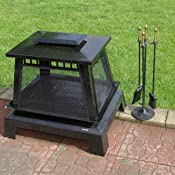 Amazon Com Char Broil Trentino Deluxe Outdoor Fireplace