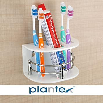 Plantex High Grade Tooth Brush Holder/Stand / Tumbler Holder for Bathroom/Bathroom Accessories for Home