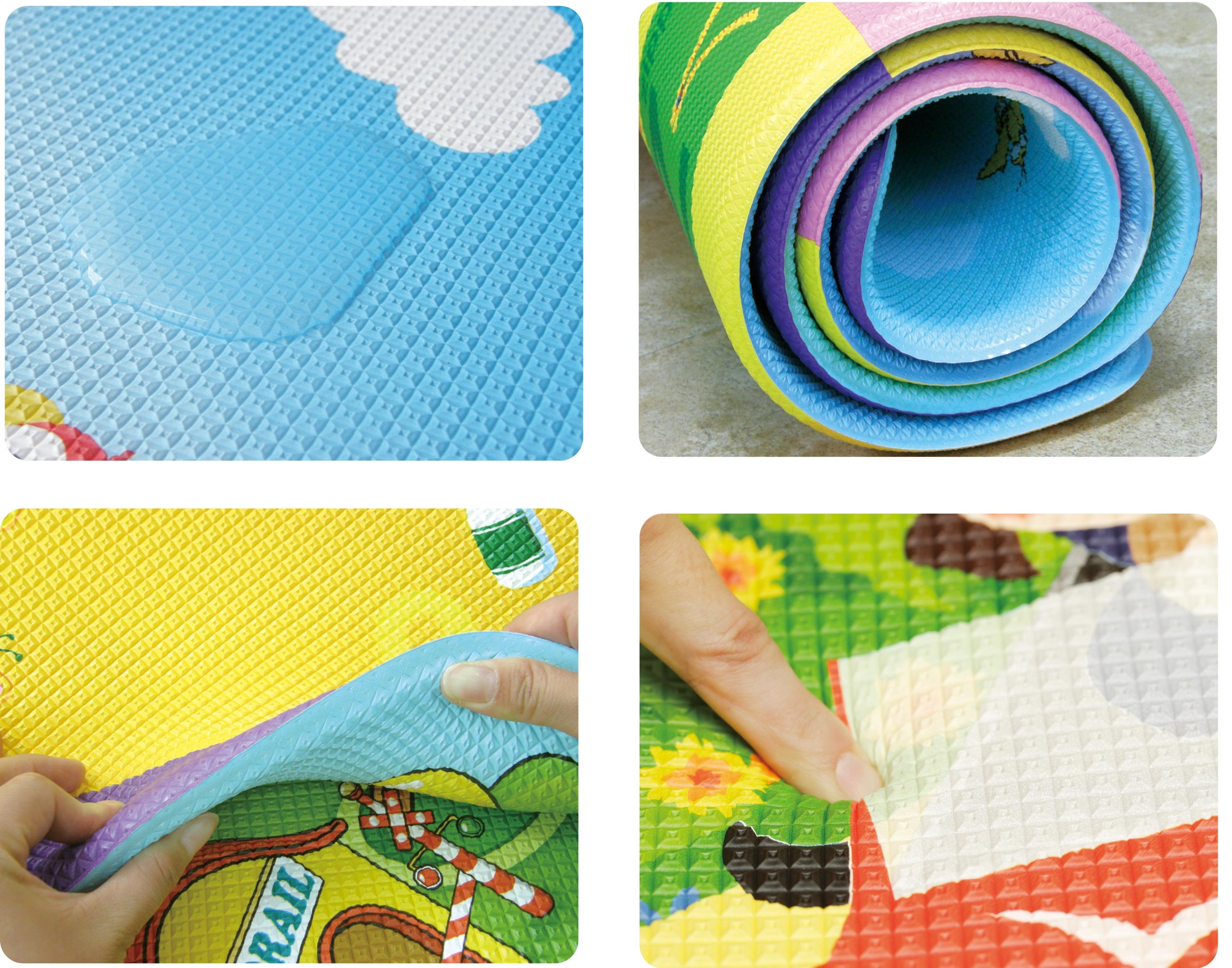 Dwinguler Large Eco-Friendly Kids Play Mats - Designer Collection (FairyLand)