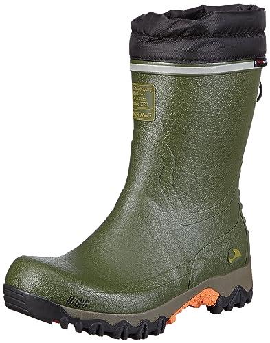 Viking Unisex-Erwachsene Terrain II Gummistiefel, Grün (Green 4), 39 EU
