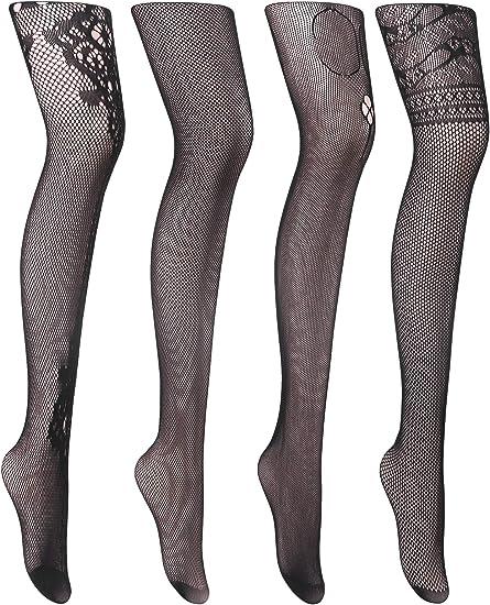 Fashion Floral Ladies Fishnet Pattern Jacquard Pantyhose Women Tights Stockings