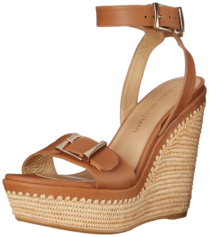 Stuart Weitzman Women's Bissy Wedge Sandal B019ZFIS5Y 6 B(M) US|Miel