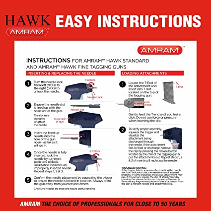 Amazon Amram Hawk Fine Tagging Gun Kit Includes 1250 2