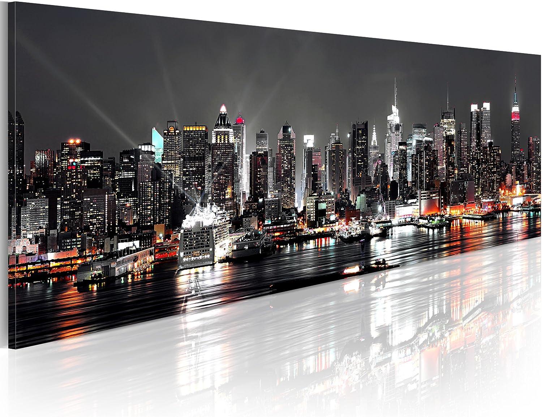 murando Cuadro en Lienzo 135x45 1 Parte Impresión en Material Tejido no Tejido Impresión Artística Imagen Gráfica Decoracion de Pared New York NY Ciudad City 030211-52
