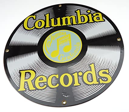 Amazon com : Columbia Records Porcelain Enamel Vintage