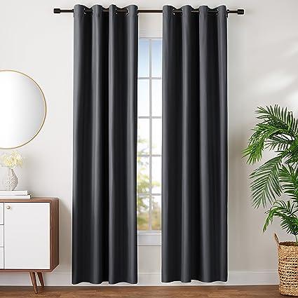 AmazonBasics - Juego de cortinas que no dejan pasar la luz, con ojales, 245