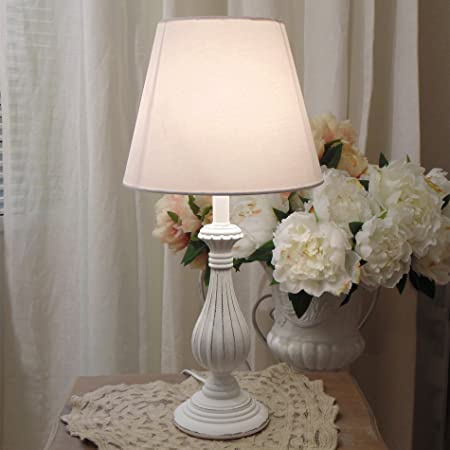 Vintage Shabby Chic Table Lamp Vintage 51x24 Antique White