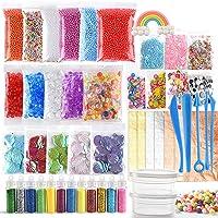 FEPITO 49 pcs slime Kit Incluyendo Bolas Pecera