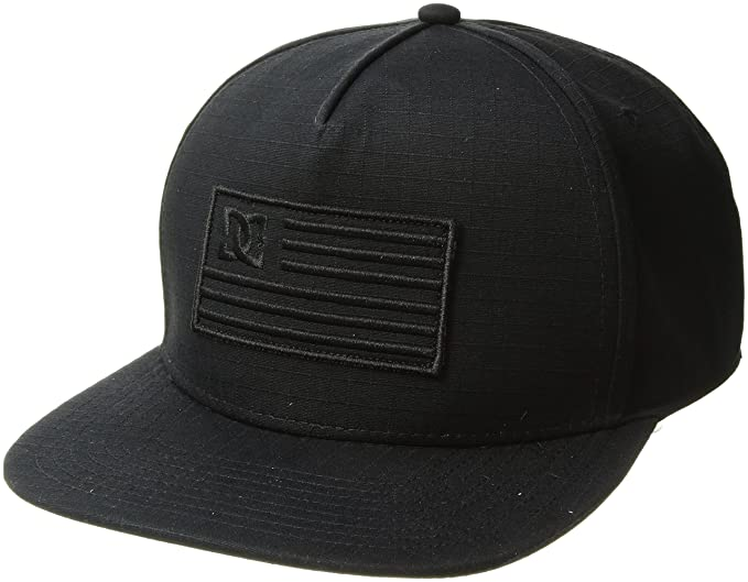 DC Shoes Mens Flagman Snapback Hat Black
