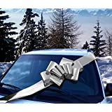 "23"" Metallic Shiny Silver Large Car Ribbon Bow"