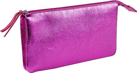 Clairefontaine 400013C Une petit pochette cuiris/é 2 compartiments 13x9cm en v/éritable cuir dagneau Graphite