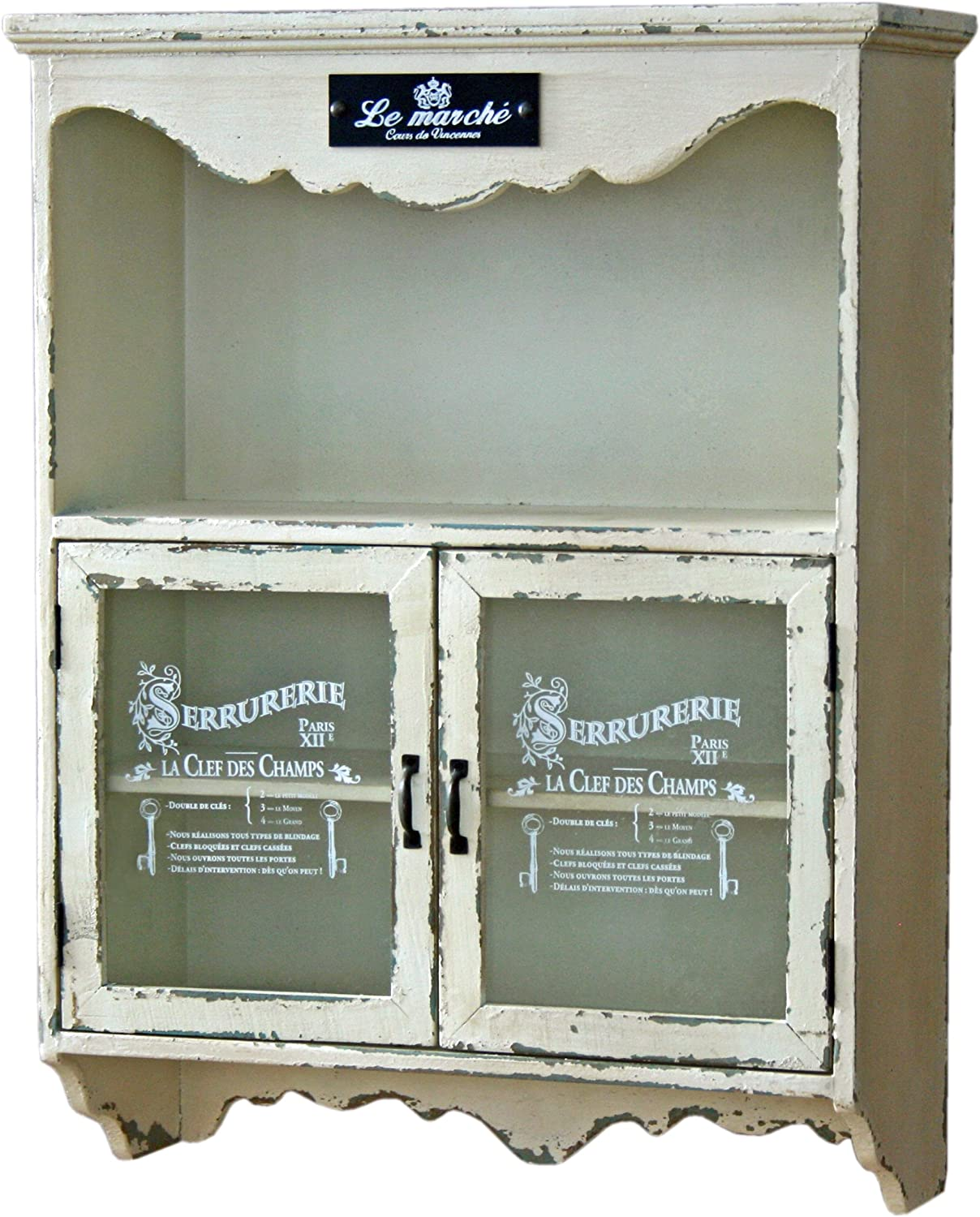 A Lot Of Surprises Montpellier Decor Le Marche 2 Door Cream Glazed Wall Cabinet Distressed Finish Shabby Chic Vintage Kitchen Home With Cheap Price To Get Top Brand Smartmeeting Co Il