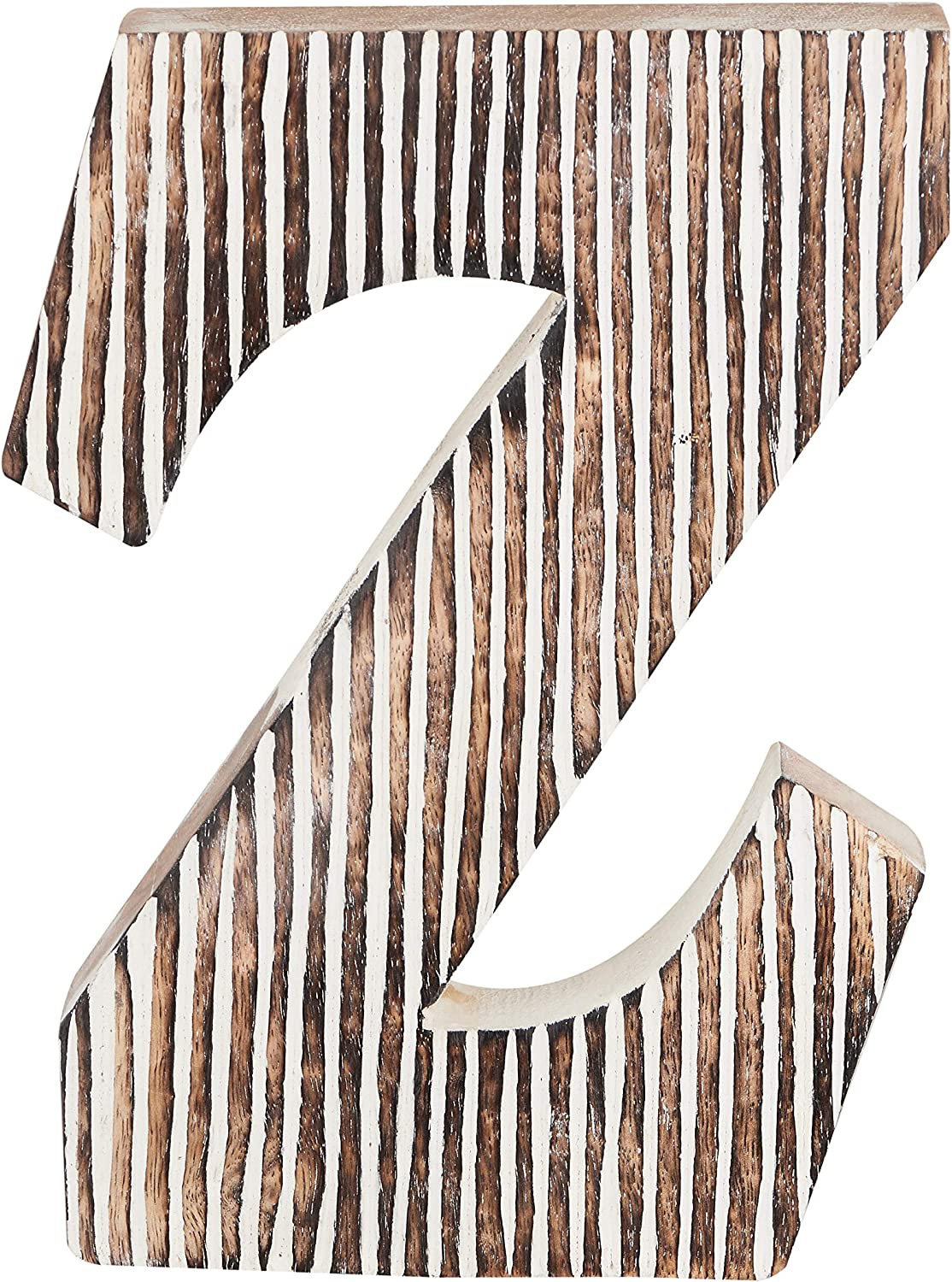 Decorative Wood Letter Z | Standing and Hanging Wooden Alphabets Block for Wall Decor | Shabby Chic Wood Block Letter for Wall Table | Alphabet Letter for Home Bedroom Birthday Housewarming Party