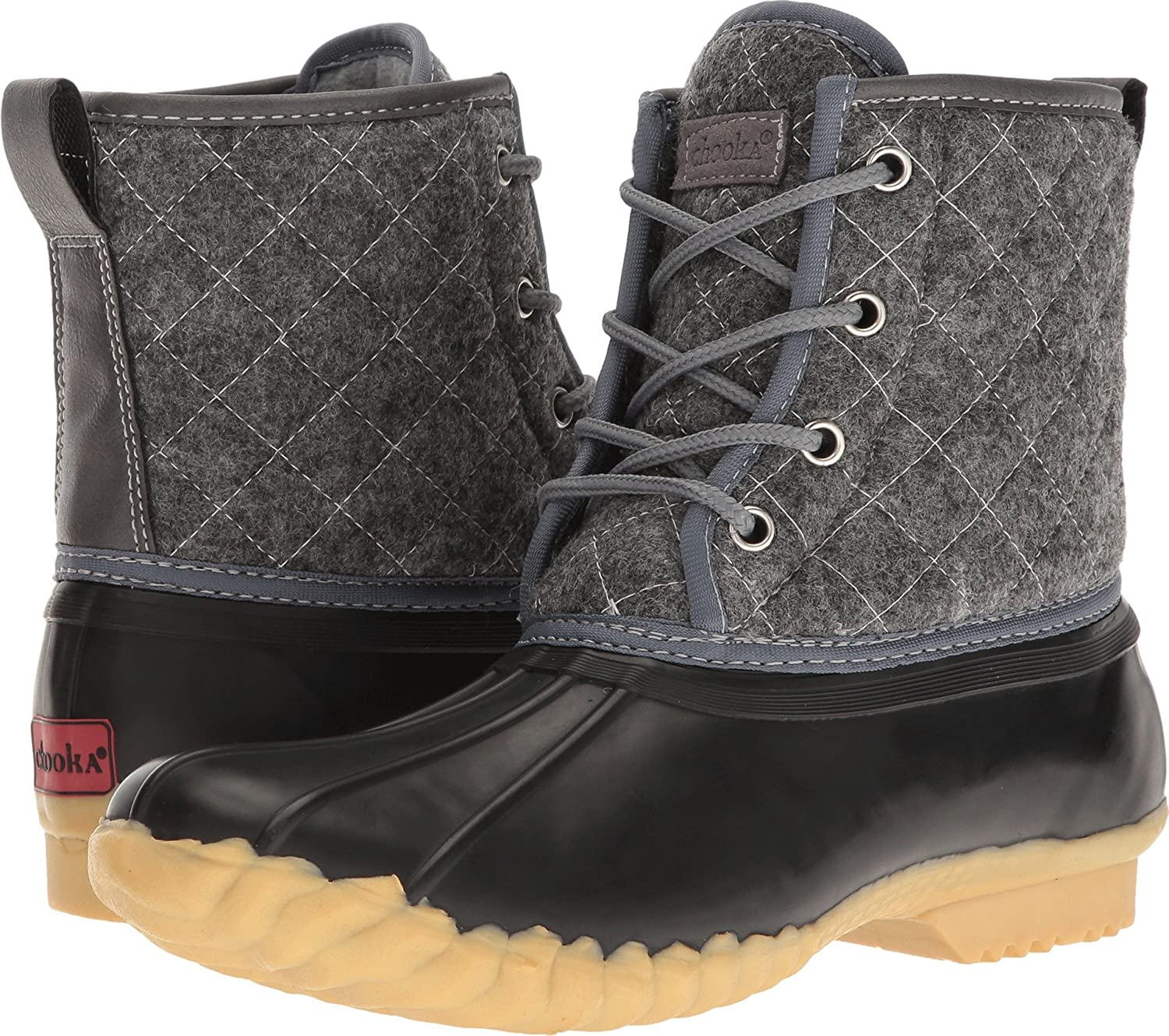 e71ac6617ff Chooka Womens Eastlake Quilted Duck Boot Black Size  M US  Amazon.co.uk   Shoes   Bags
