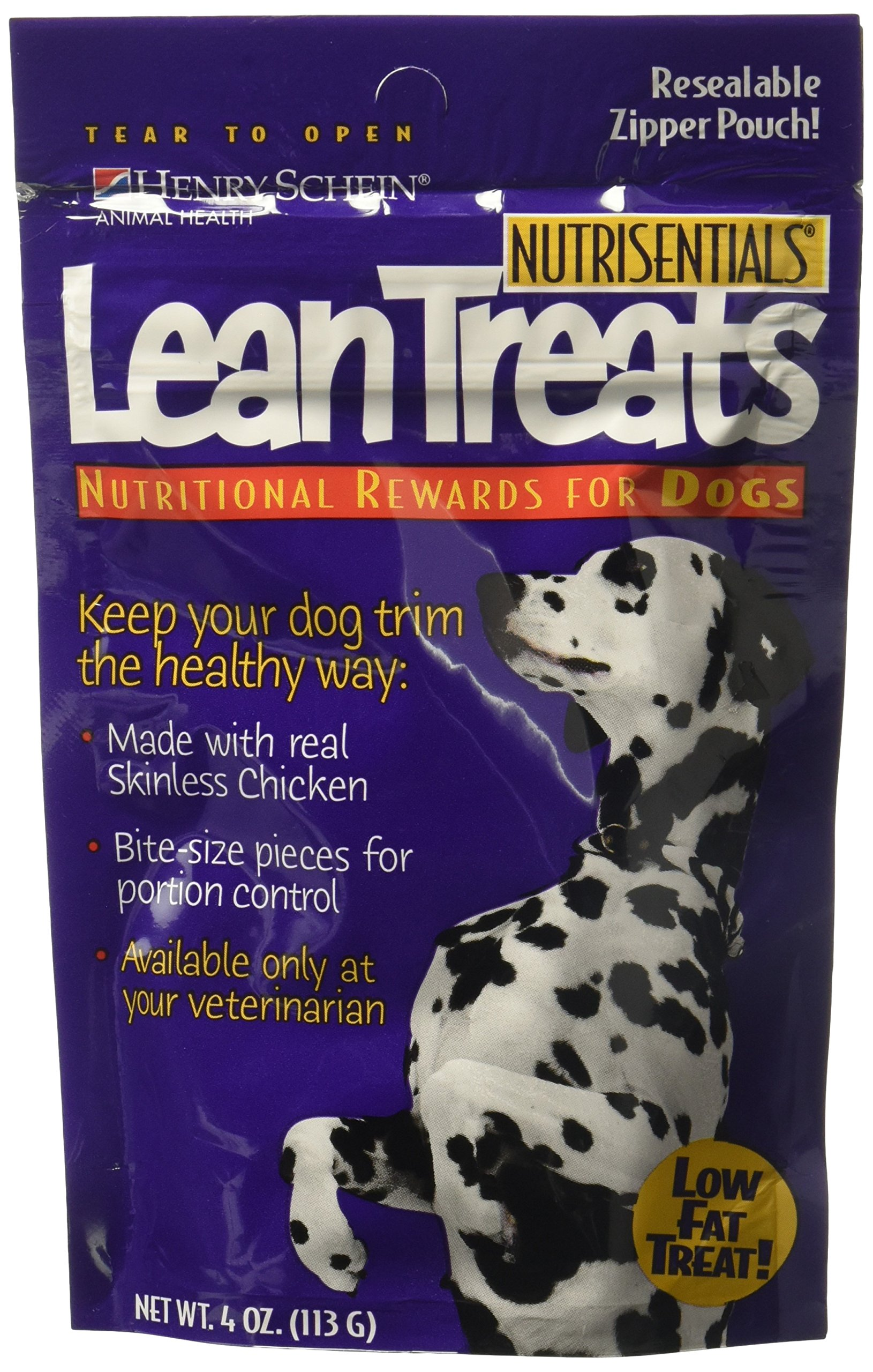 Nutrisentials Lean Treats For Dogs 4oz Bag - Pack of 3