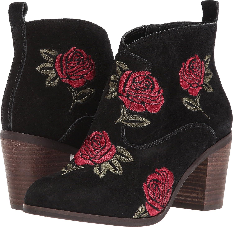 Lucky Brand Women's Pexton Ankle Boot B07692TGS1 8.5 B(M) US|Black Rose