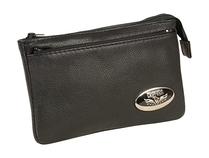 Amazon.com  Milwaukee Leather MP8820-BLK-PCS Black Small Ladies Shoulder  Bag with Zipper Closure  Automotive 1f338deaa18be