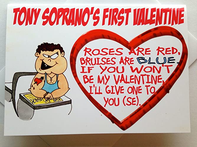 Amazon Funny Valentine Card Tony Soprano Valentine Card – Valentine Cards Funny