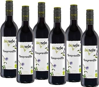 biorebe Tempranillo España (6 x 0.75 l): Amazon.es: Alimentación y bebidas