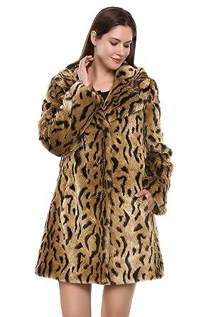 Adelaquuen Abrigo de Piel Sintética con Estampado de Tigre Chaqueta con Nuevo Estilo Amarillo Dorado Para Mujer Tamaño XS: Amazon.es: Ropa y accesorios
