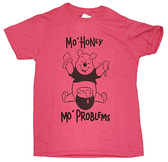 3cda34a4 Disney Winnie the Pooh Mo Honey Mo Problems Red Graphic T-Shirt - Large