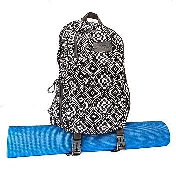 Mochila para esterilla de yoga con dos correas de lona estampada