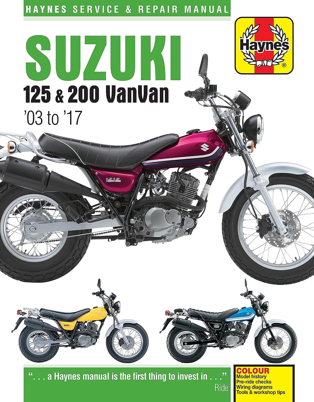 Suzuki Rv125 And Rv200 Vanvan 2003 2016 Haynes Manual Honda Ax 1 Wiring Diagram Car Motorbike