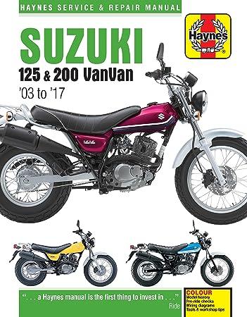suzuki rv125 and rv200 vanvan 2003 2016 haynes manual amazon co uk rh amazon co uk Suzuki 125 4 Stroke Suzuki 125 4 Stroke