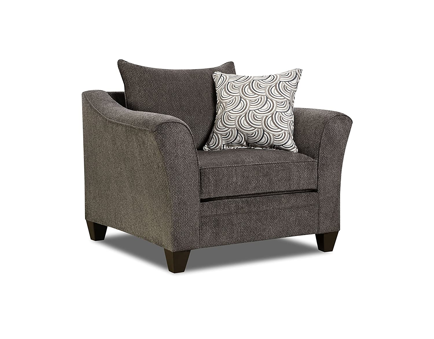 Amazon Com Simmons Upholstery 6485 01 Pewter Albany Chair Kitchen