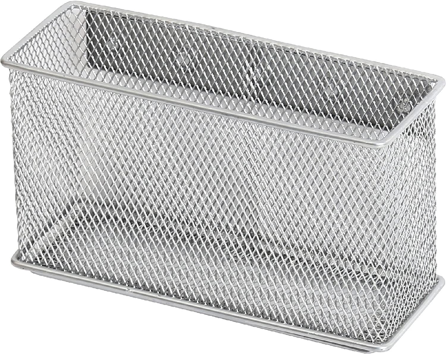 Container 1, Medium Desk Tray Office Supply Accessory Organizer Silver for Refrigerator//Microwave Oven or Magnetic Surface in Kitchen or Office YBM HOME Ybmhome Wire Mesh Magnetic Storage Basket