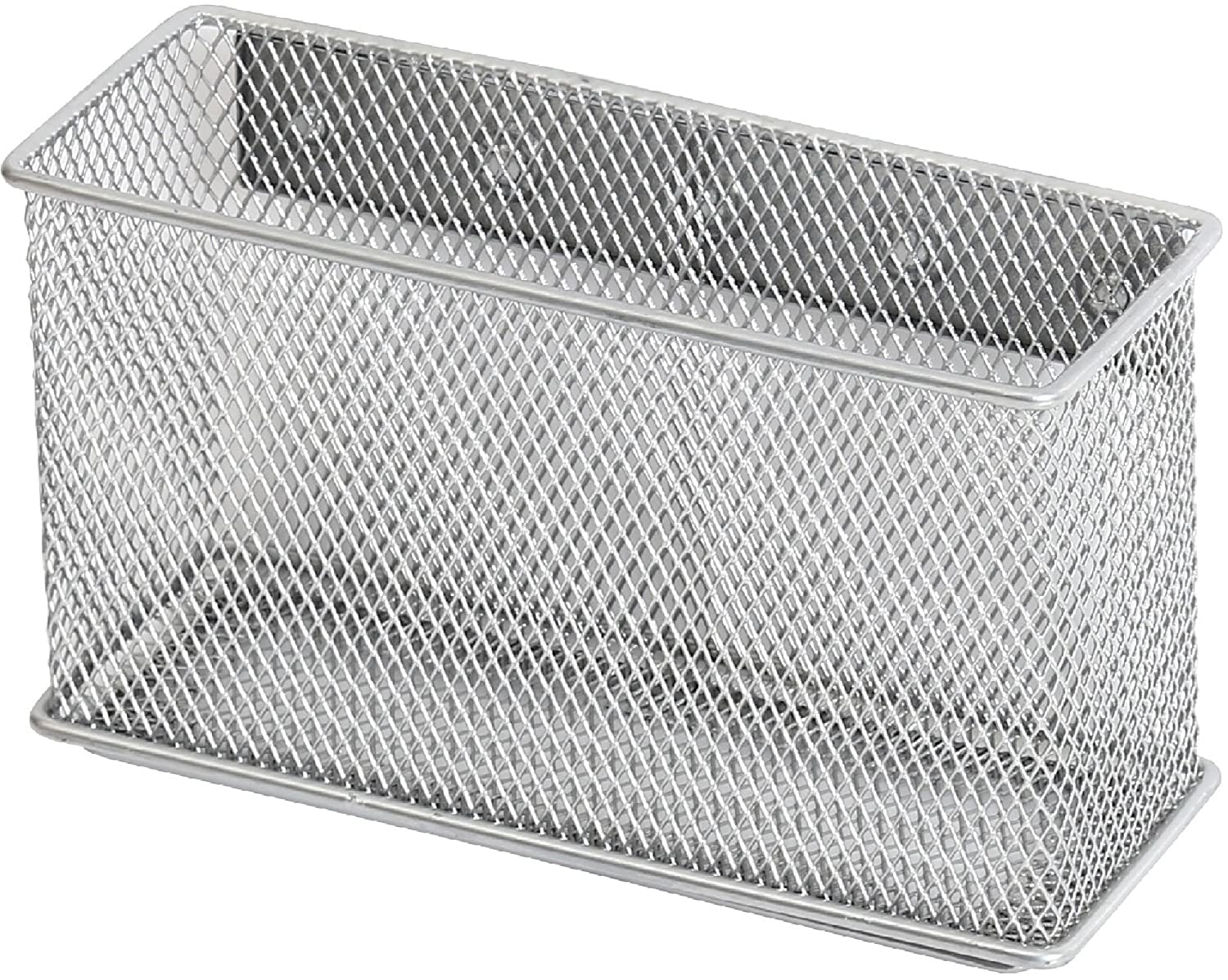 Amazon.com: Ybmhome Wire Mesh Magnetic Storage Basket, Container, Desk  Tray, Office Supply Accessory Organizer Silver For Refrigerator/Microwave  Oven Or ...