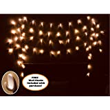 15ft LED Photo Clip String Lights [FREE Gift] Includes Wall Hooks - 16 Clip String Lights for Bedroom Hanging Photos, Battery Operated, 120 Hour Lifespan! Perfect for Dorm, room, wedding decoration!