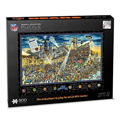 NFL Chicago Bears Joe Journeyman Puzzle - 500-piece : Sports & Outdoors