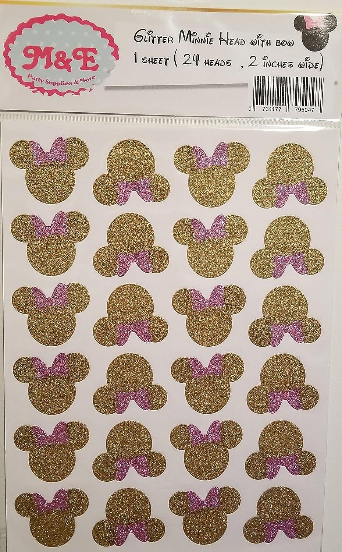 Pegatinas con purpurina dorada y rosa para decoración de ...